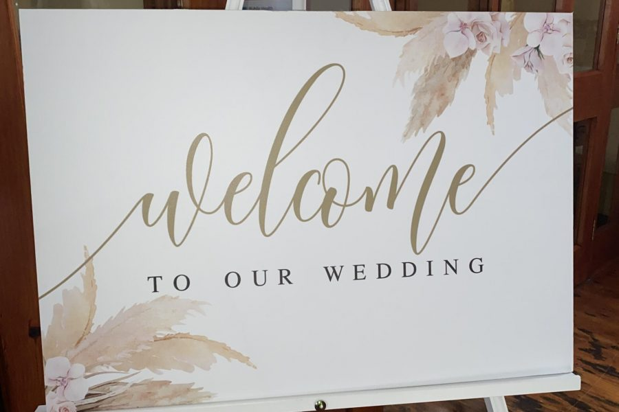 Welcome sign new